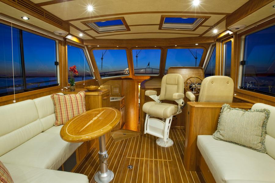 Sabre 42 Fly Bridge Sedan Motor Yacht Custom Hand