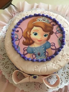 Torta impresa decorada con imagen Princesa Sofia