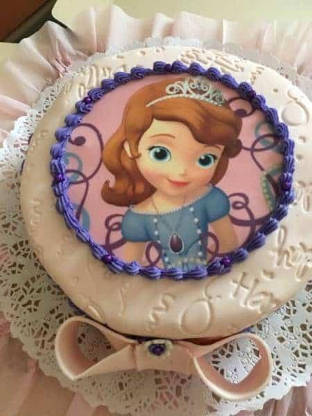 Torta Princesa Sofia – Impresión Comestible