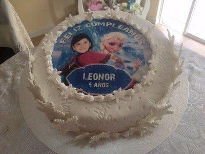 Torta Cumpleaños Frozen fondant