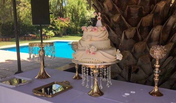 Torta de novios decorada fondant