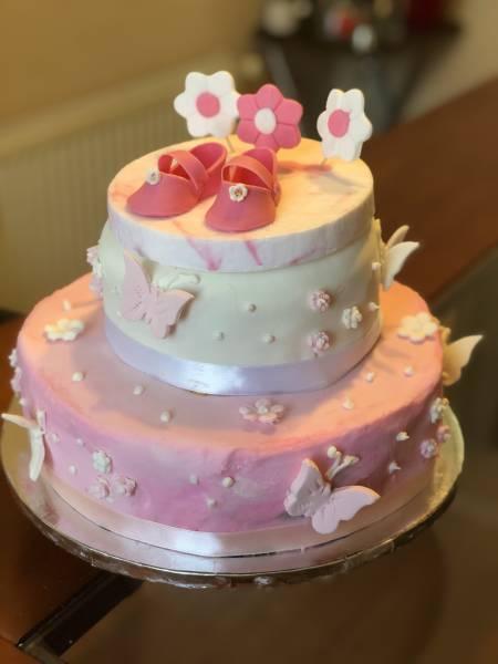 Torta baby shower rosada
