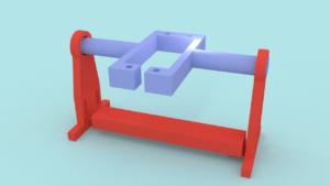 Frame and servo cradle
