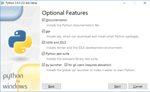 Installing Pip as you install Python