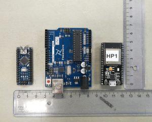 Arduino Nano, Arduino Uno and ESP32