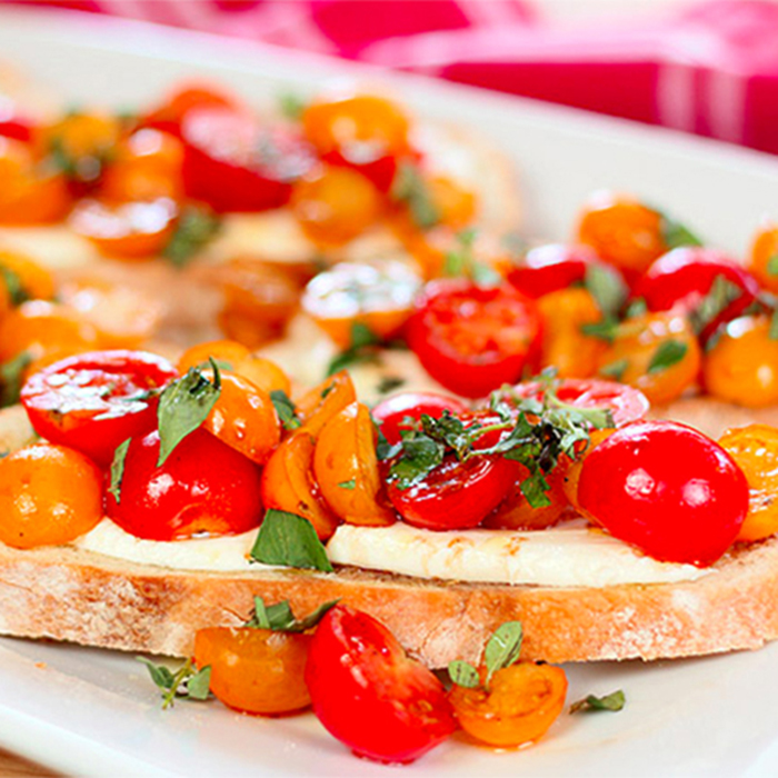 Recipe: Tomato Mozzarella Bruschetta