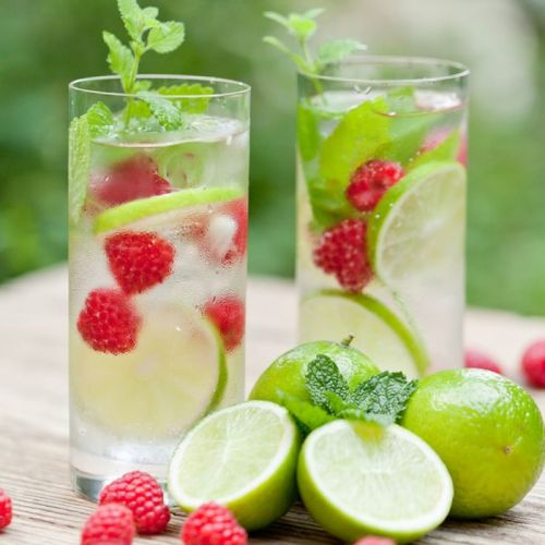 raspberry lime water, detox water recipe