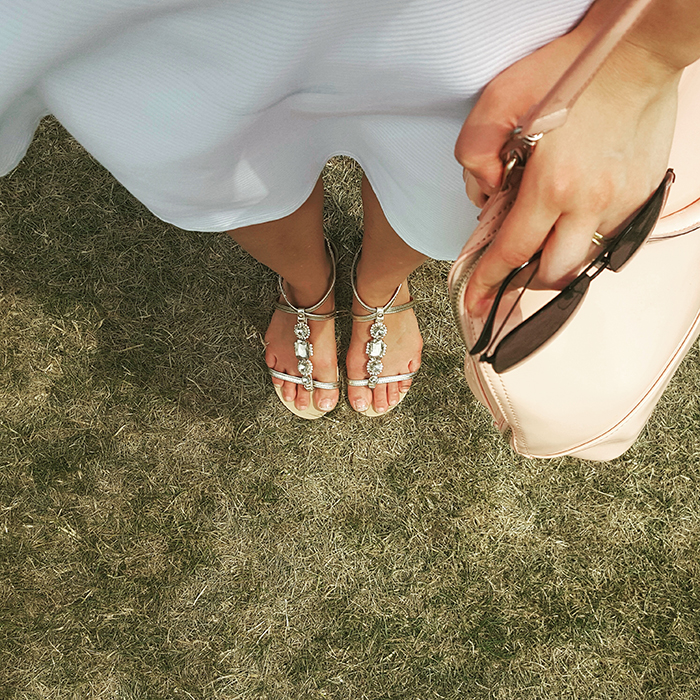 Outfit: White at the Polo Games