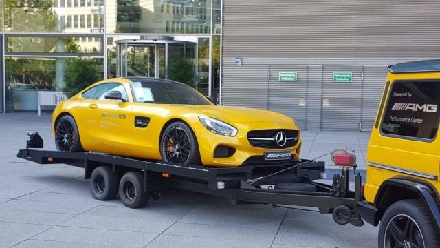 Mercedes Benz Munich AMG yellow
