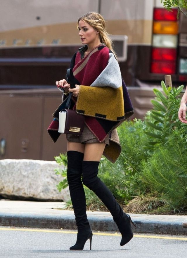 suede black over the knee boots fall fashion