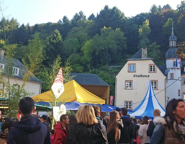 Vianden Nut Market crowd