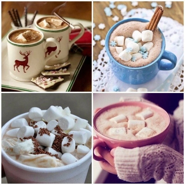 Hot chocolate and hot coffee love winter