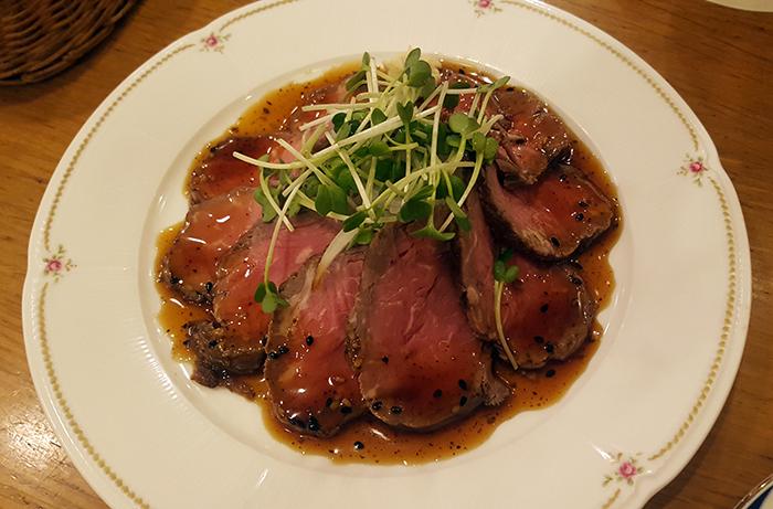 asahi beer restaurant ocat osaka cold beef
