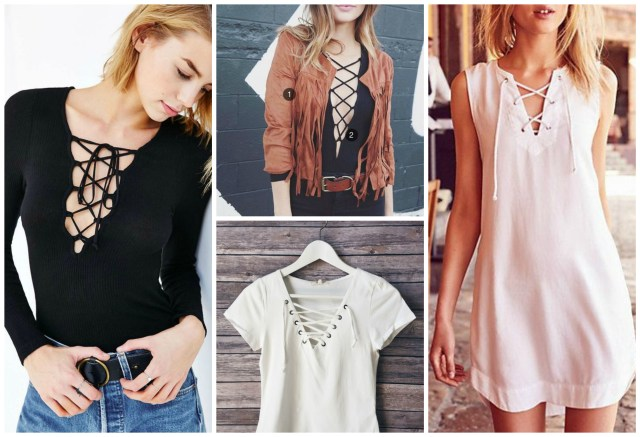Laced up inspiration spring tops
