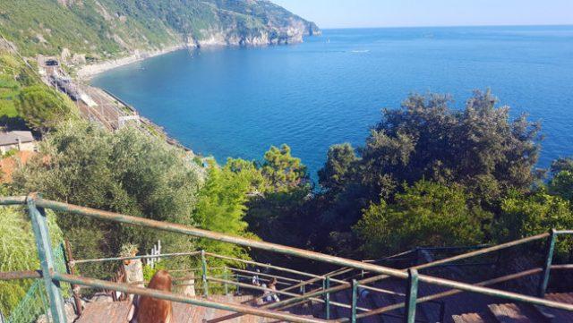 12 hours in Cinque Terre: stairs in Corniglia