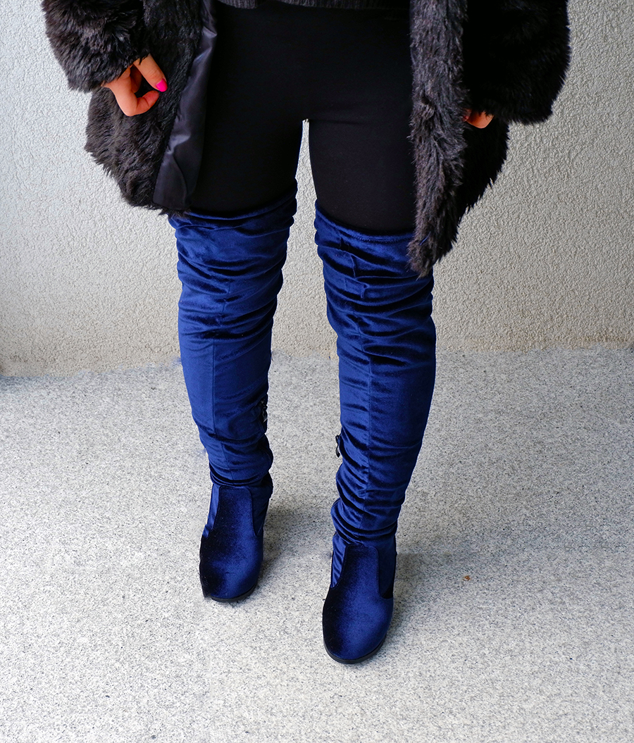 how to wear velvet boots_close up