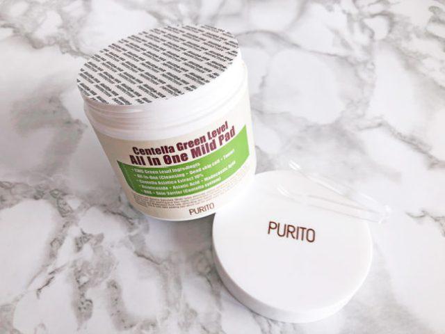 korean skin care routine summer_purito_centella green_mild pads