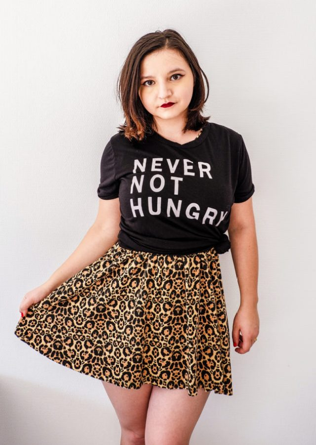 Leopard Print Dress with graphic tee