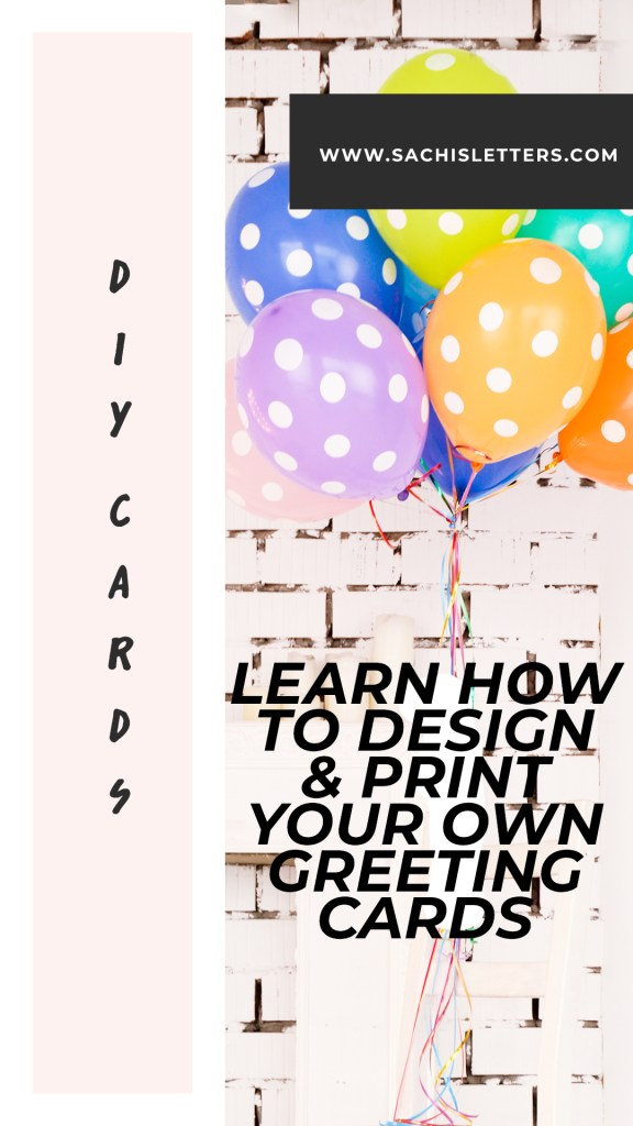 learn how to design and print your own greeting cards