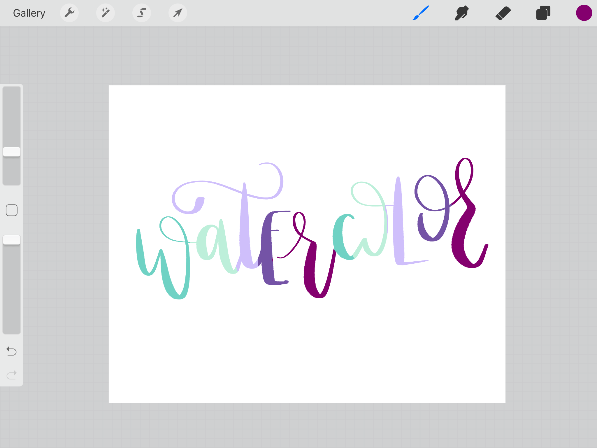 How to Create Realistic Watercolor Lettering in Procreate