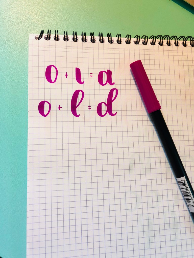improve your brush lettering by breaking down your letters