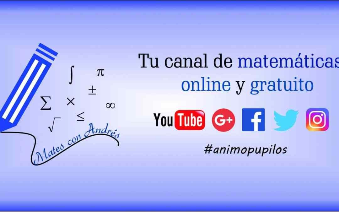 Algo nuevo, fresco y dinámico ha llegado a YouTube. Te presentamos a nuestro amigo «Mates con Andrés»