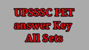 UPSSC PET answer key