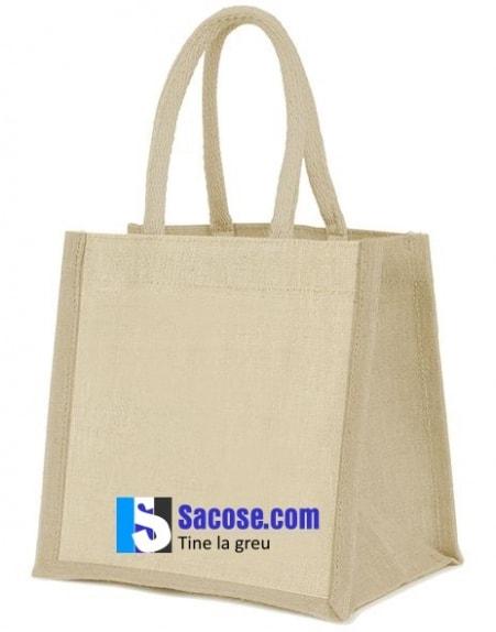 sacosa iuta - Jute Mini Gift Bag - 20x20x12 cm-natur