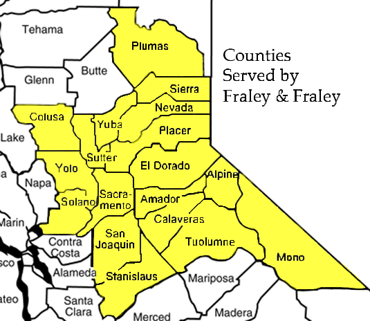 Counties Served By Fraley and Fraley Bankruptcy Attorneys