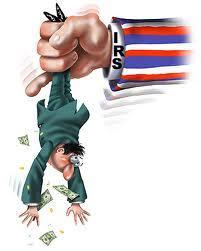 IRS shaking man