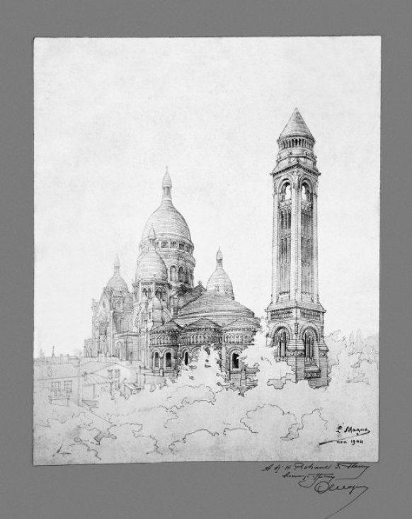 Schizzo del progetto: la basilica a Montmartre