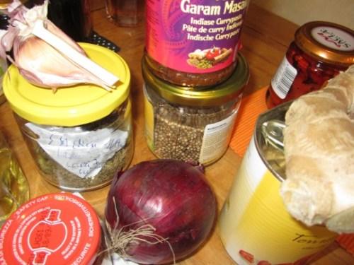 Indisches Curry mit vielen Gewürzen