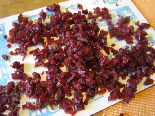 Cranberries hacken - keine Feinarbeit nötig