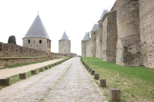 Carcassonne - außerhalb der Stadtmauern noch ansehbar