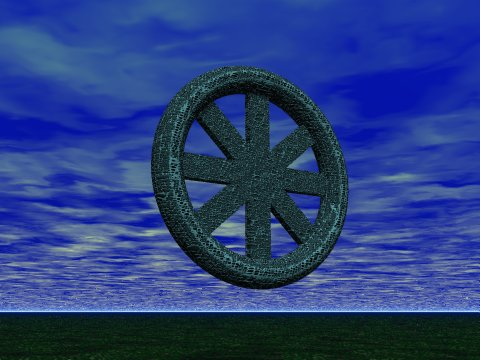 Wheel in an empty sky; Image © Copyright J.B. Hare 1999, All Rights Reserved