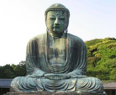 Kamakura butsu Buddha statue [Wikimedia] (Public Domain Image)