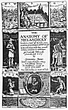 THE TITLE PAGE OF BURTON'S ANATOMY OF MELANCHOLY.