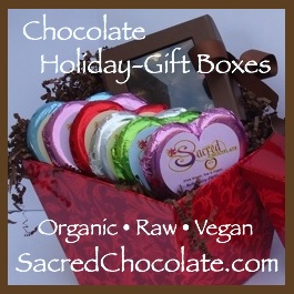Stone Ground Raw Vegan Chocolate Holiday Gift Boxes