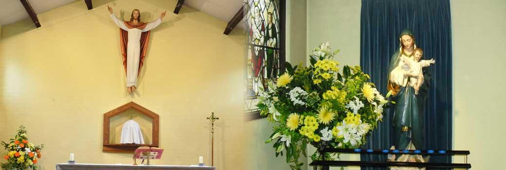Inside Sacred Heart Church