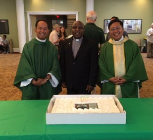 Father Paul with Father George and Father Ernie-visitor from Philippians