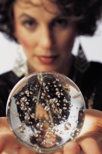 Seer with crystal ball