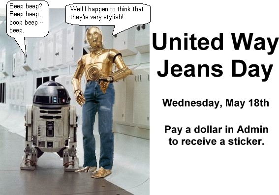 United Way: Revenge of the Jeans - Garmonbozia for the soul.