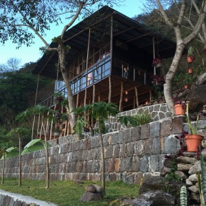 Jaguar Lodge is a short walk away from the central part of the property, facing directly over the lake with 4 rooms. There are steep stone stairs to reach the second floor. The first floor houses a large practice area, which we will likely use for morning sadhana.