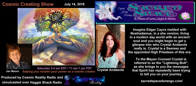 Crystal Andasola on the Cosmic Creating Show