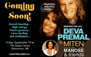 Deva Premal and Miten with Manose in Edmonton, AB