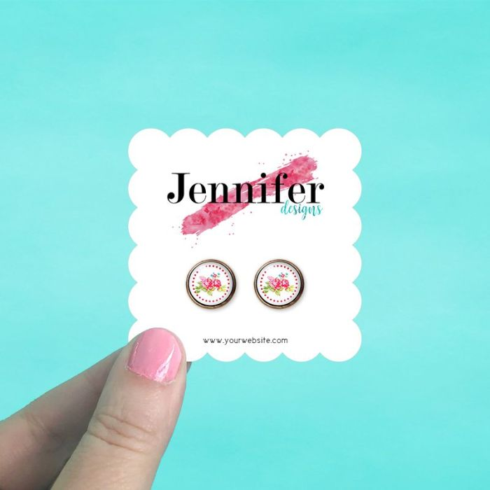 Scalloped Square Jewelry Cards