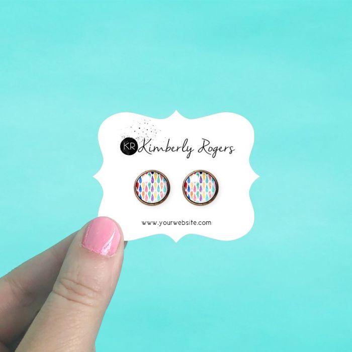 Rectangle Bracket Jewelry Cards