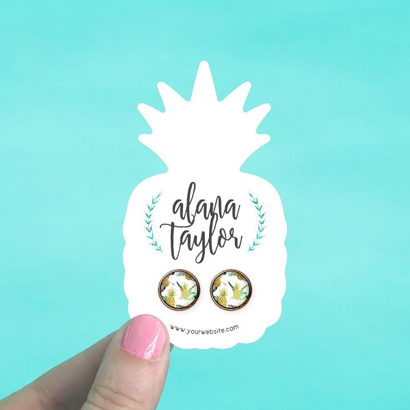 Pineapple Jewelry Cards