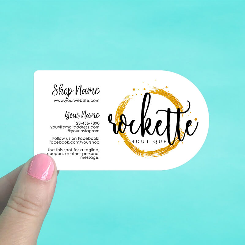 Half circle business cards saddle hill half circle business cards wajeb