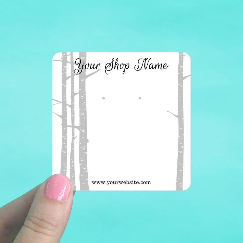 Birch Woods Jewelry Display Cards